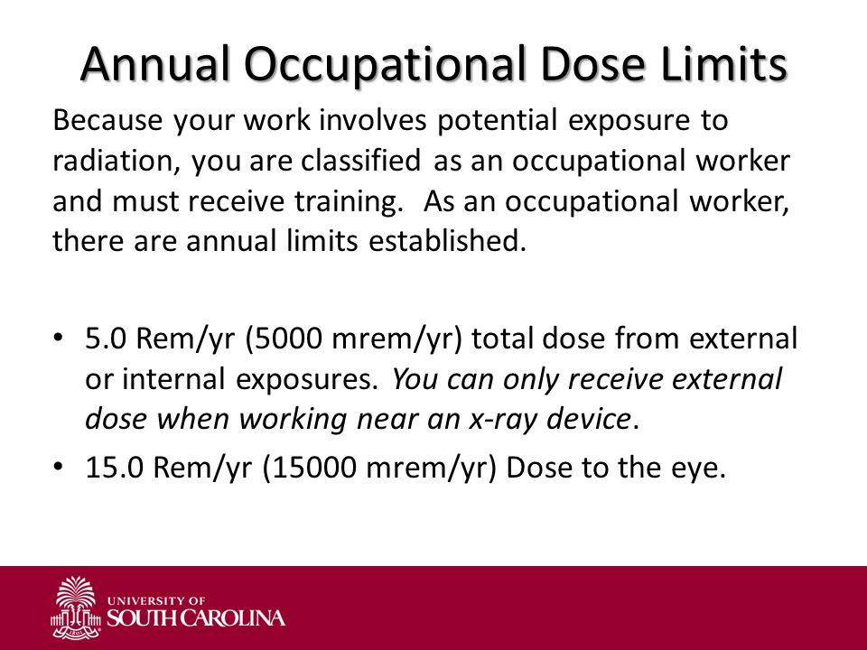Annual Occupational Dose Limits