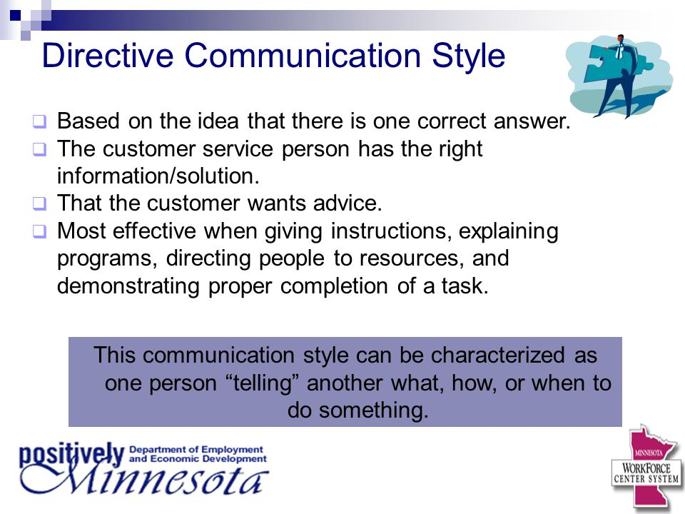 Directive Communication Style