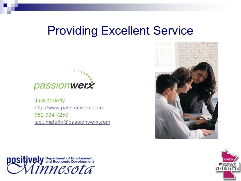 Providing Excellent Service