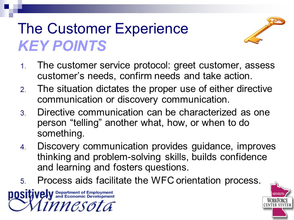 The Customer Experience KEY POINTS
