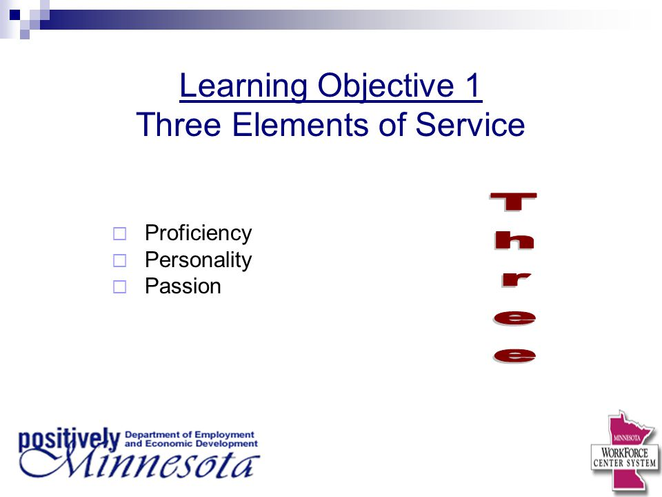 Three Elements of Service