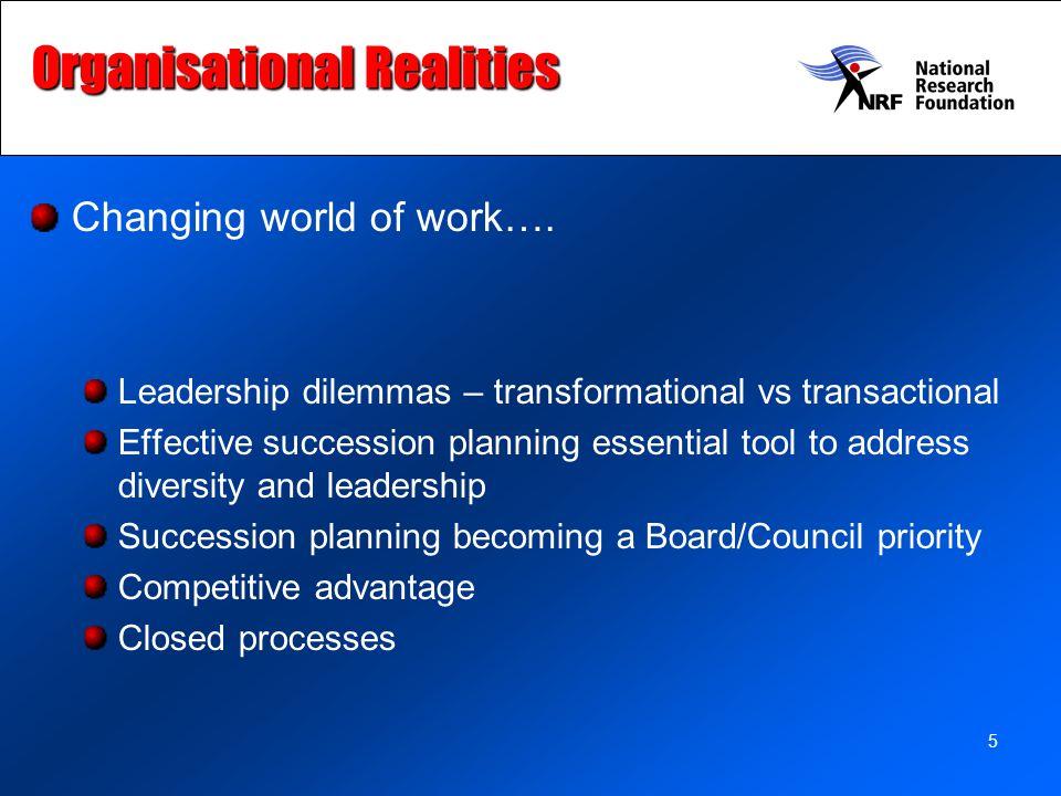 Organisational Realities