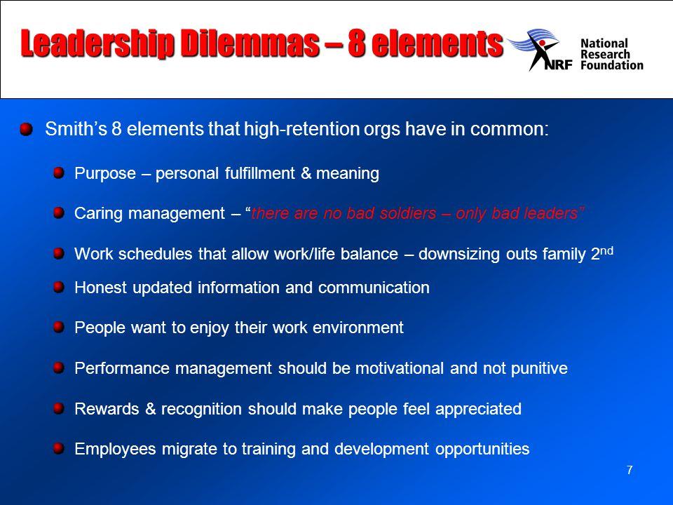 Leadership Dilemmas – 8 elements