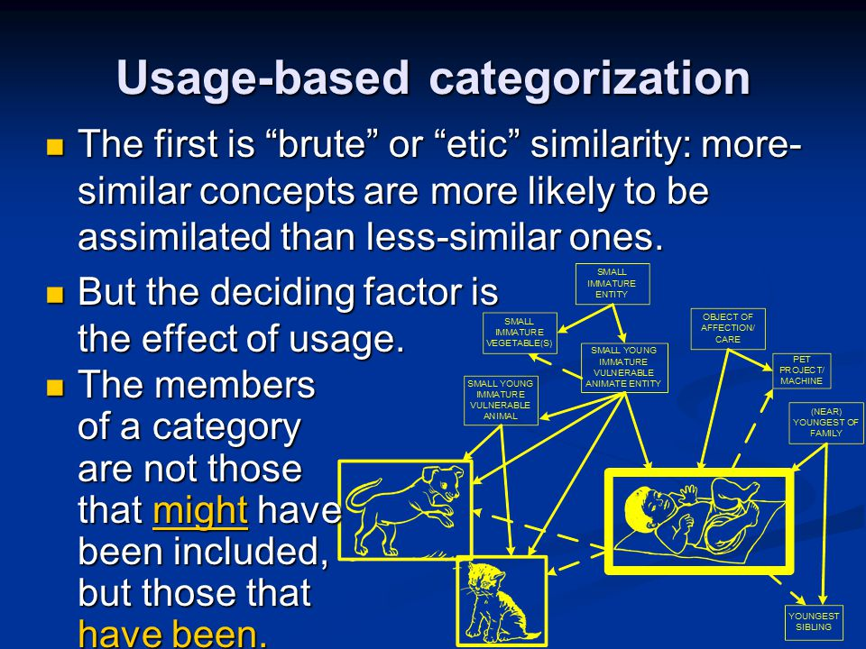 Usage-based categorization
