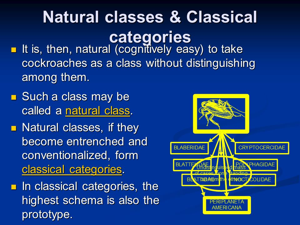 Natural classes & Classical categories