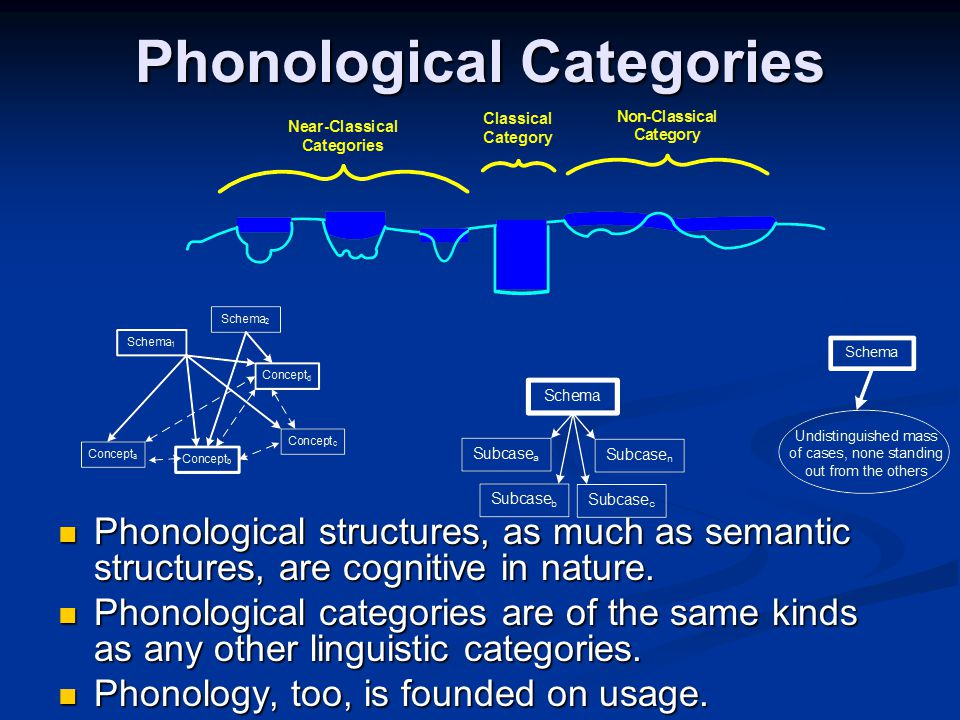 Phonological Categories
