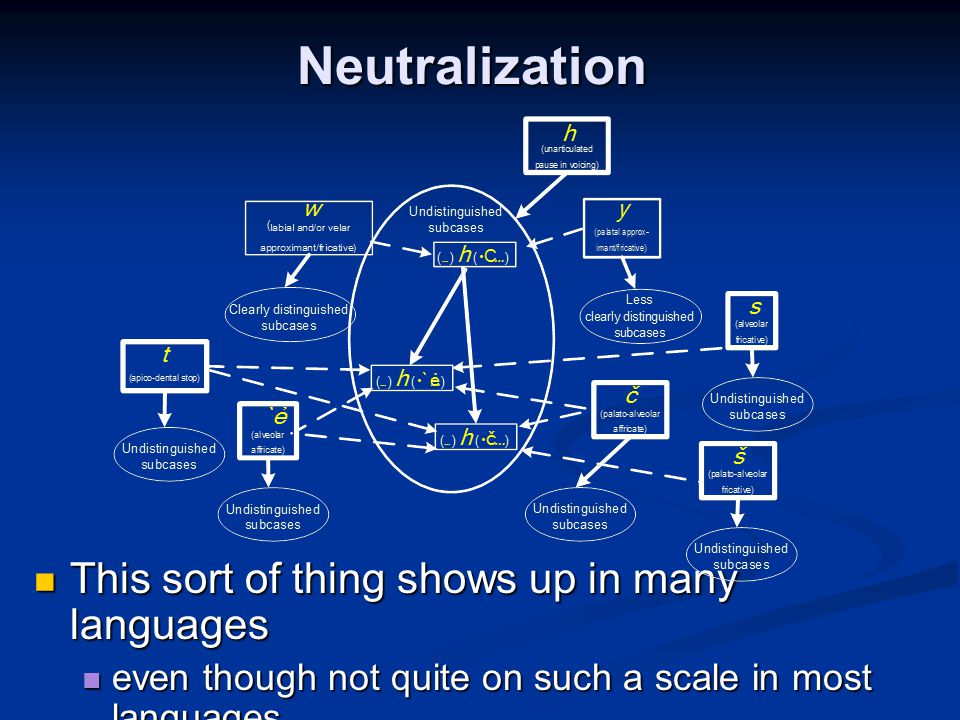Neutralization This sort of thing shows up in many languages