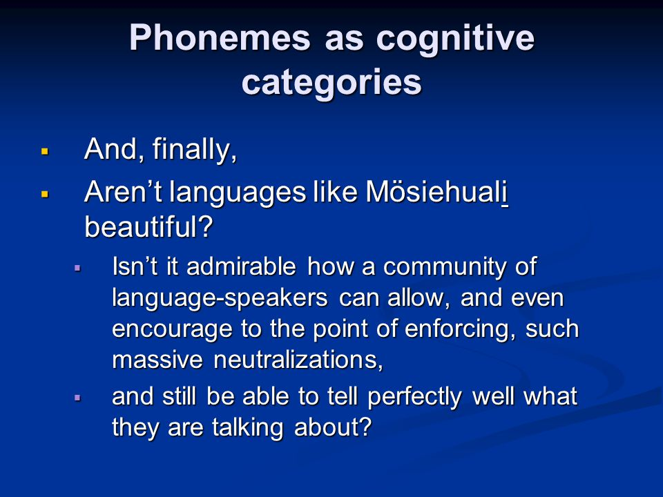 Phonemes as cognitive categories