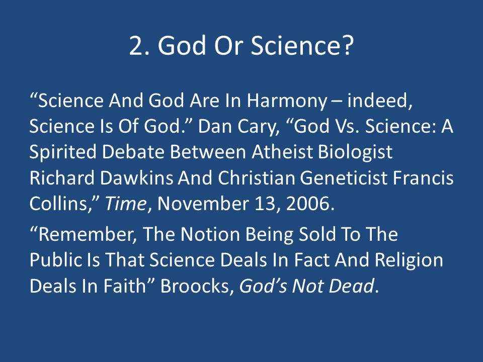 2. God Or Science
