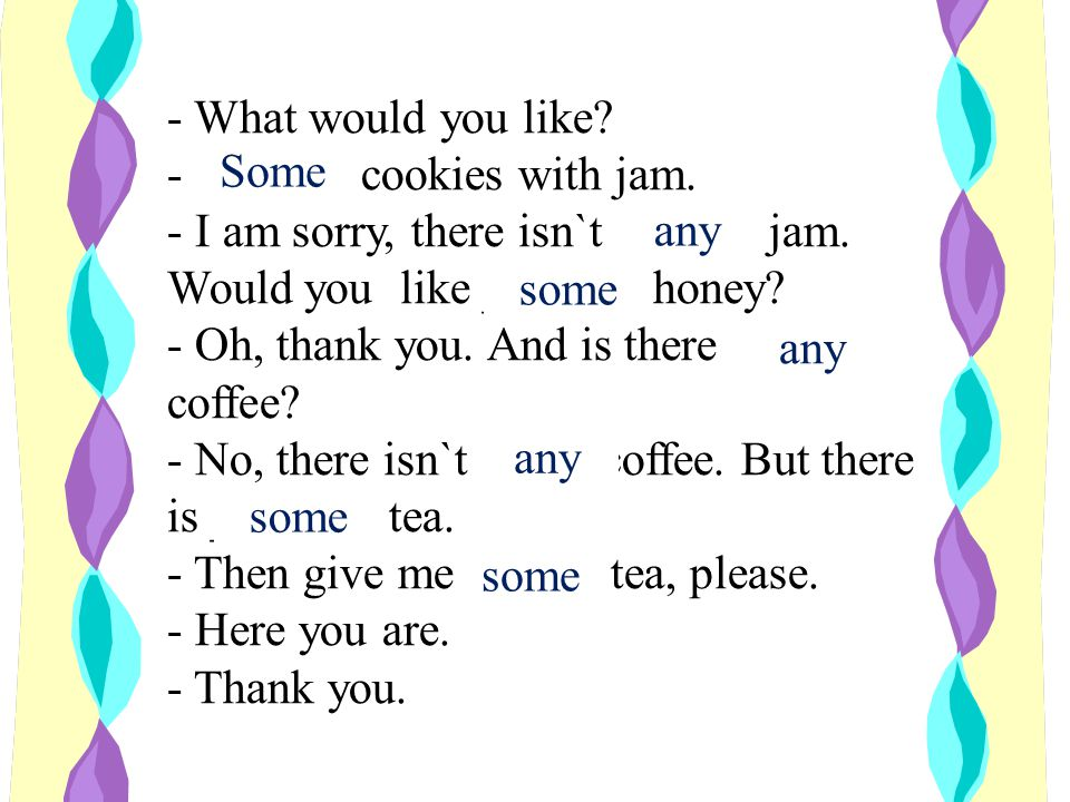 - What would you like. - ______ cookies with jam