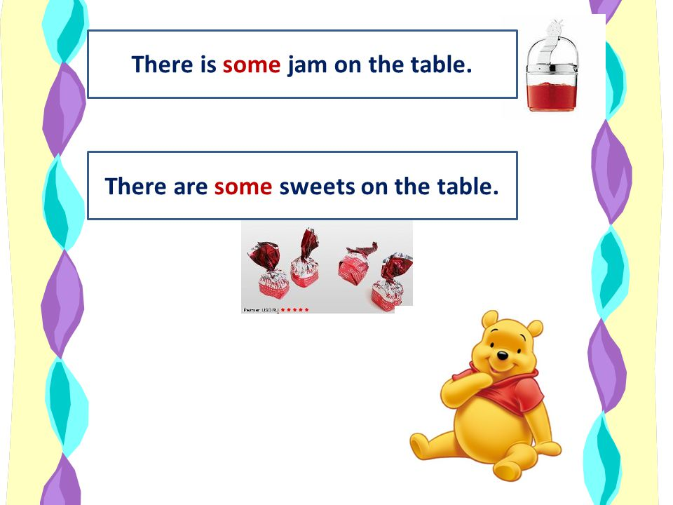 There is some jam on the table. There are some sweets on the table.