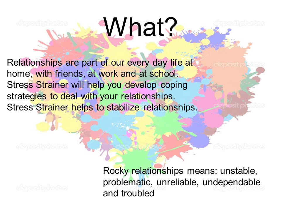 What Relationships are part of our every day life at home, with friends, at work and at school.
