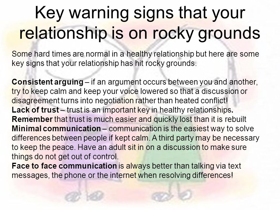 Key warning signs that your relationship is on rocky grounds