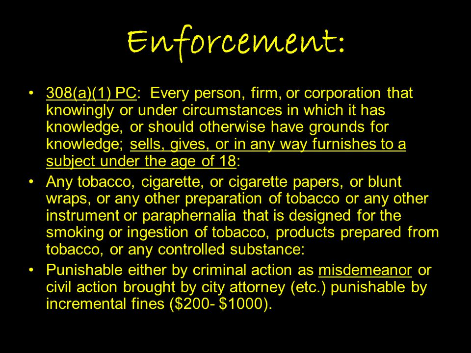 Enforcement: