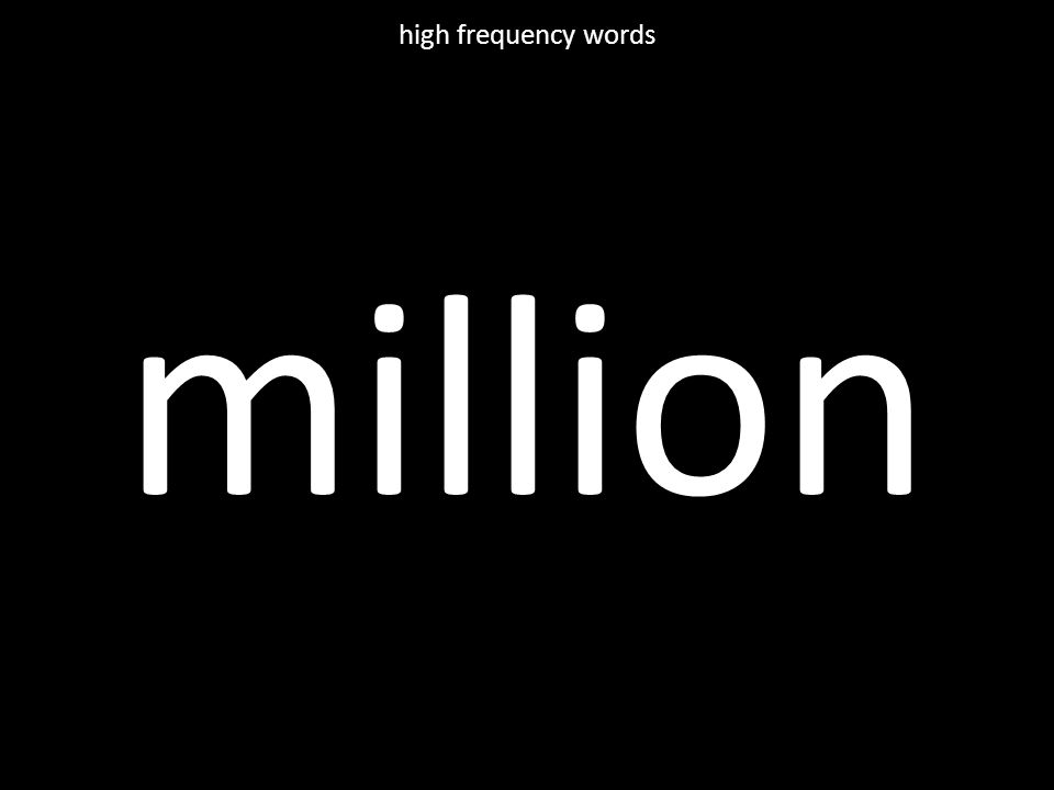 million high frequency words