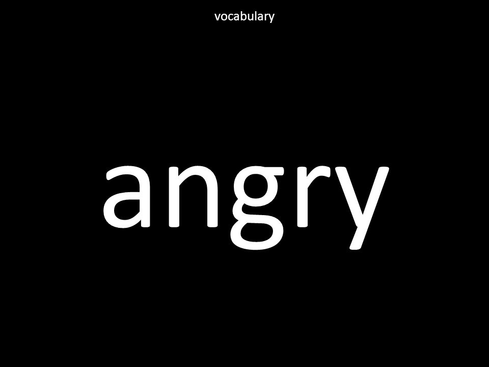 angry vocabulary