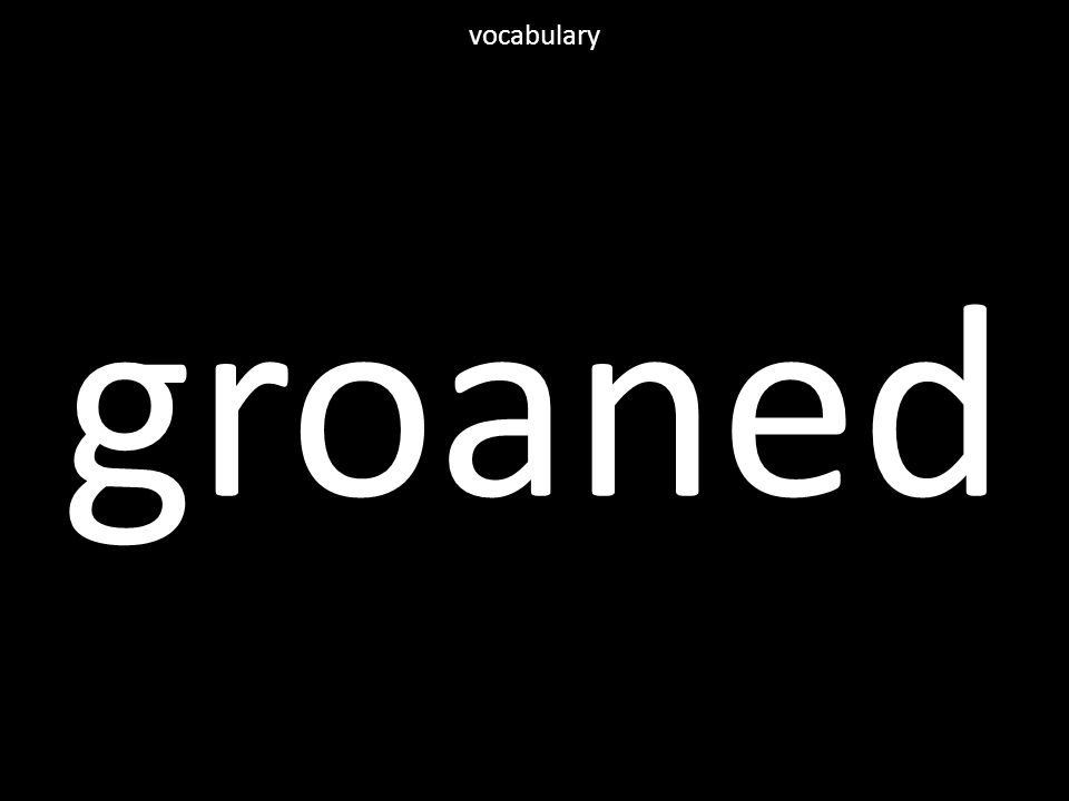groaned vocabulary
