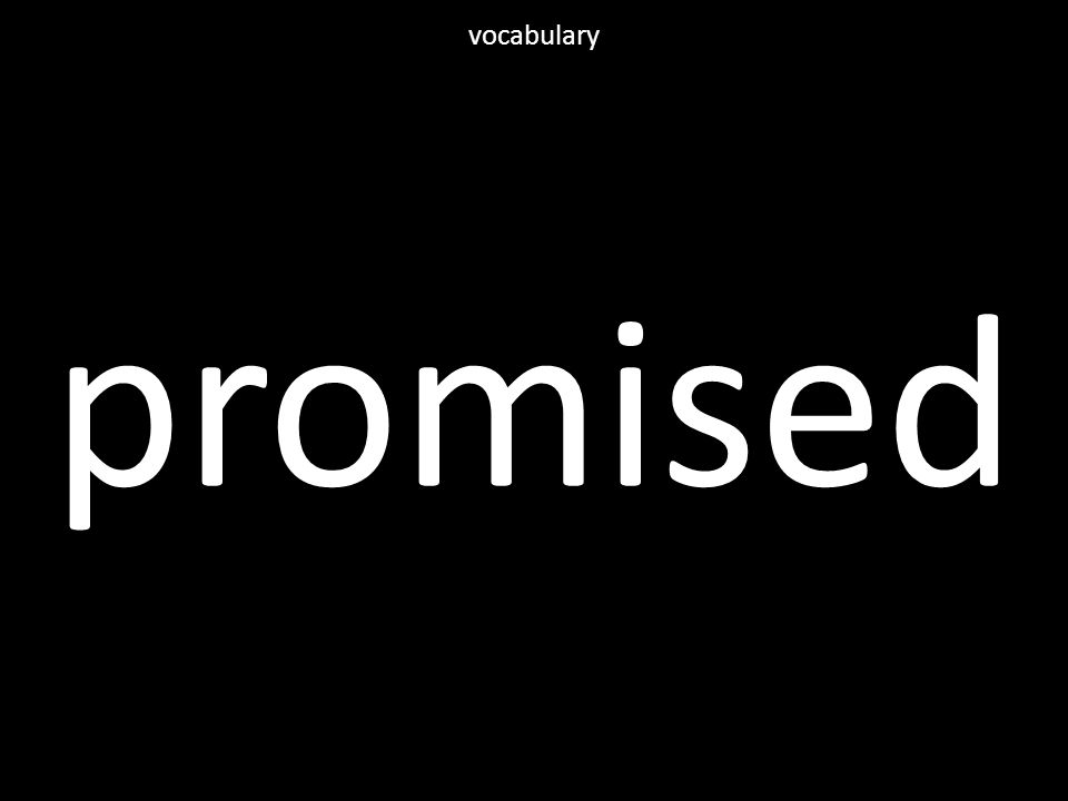 promised vocabulary
