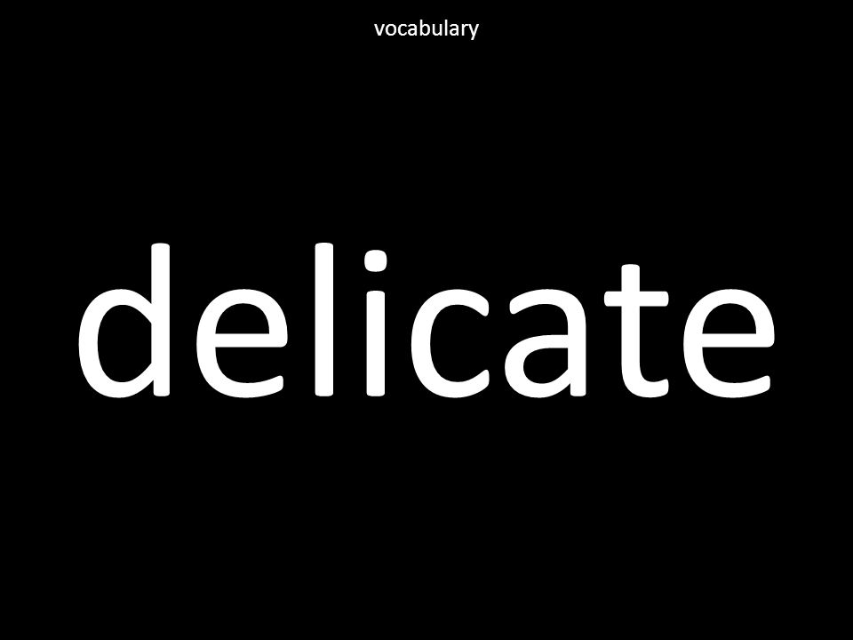 delicate vocabulary