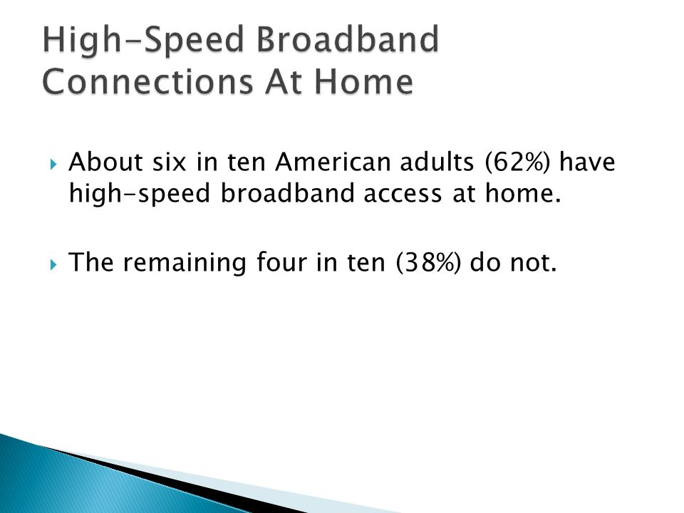High-Speed Broadband Connections At Home