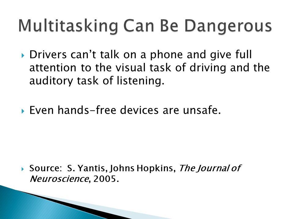 Multitasking Can Be Dangerous