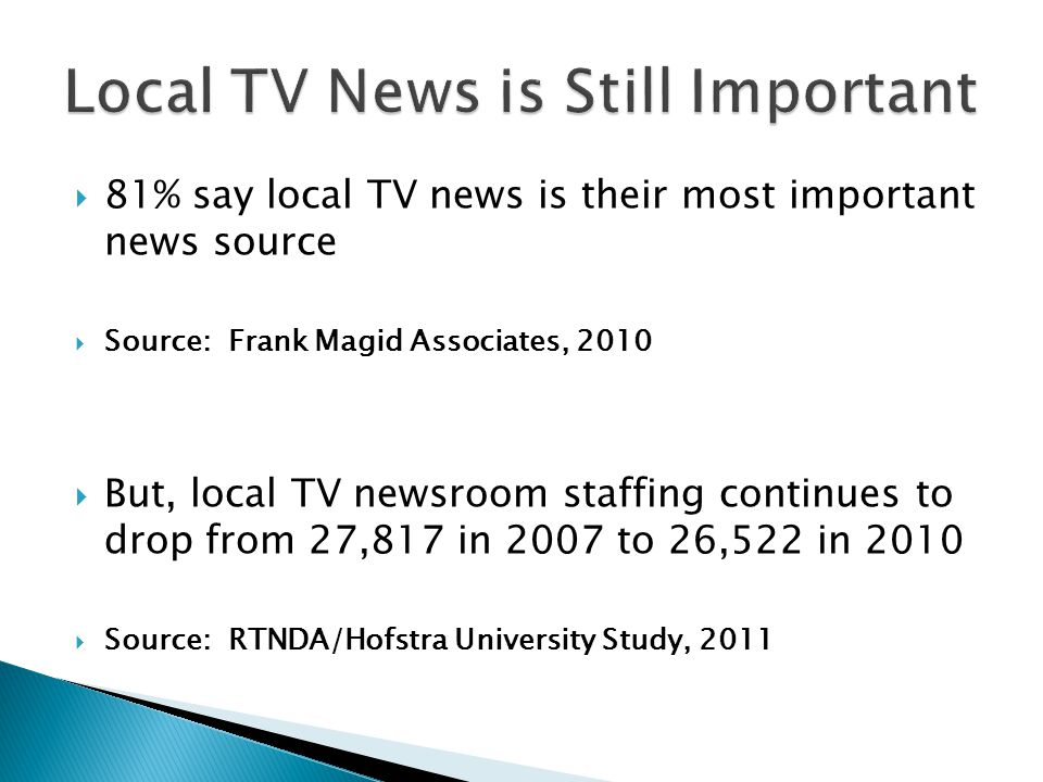 Local TV News is Still Important