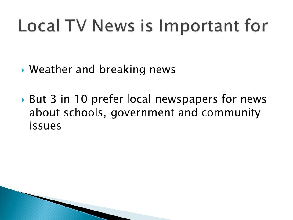 Local TV News is Important for