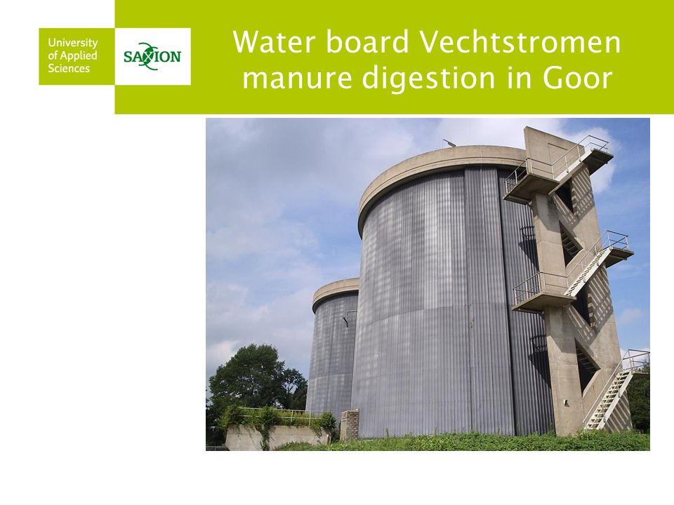Water board Vechtstromen manure digestion in Goor