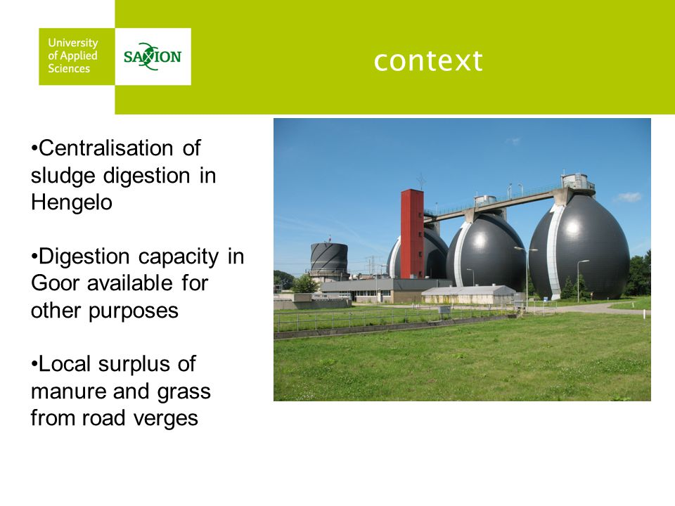 context Centralisation of sludge digestion in Hengelo