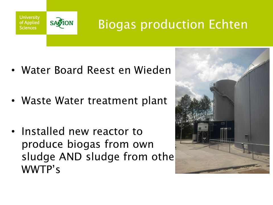 Biogas production Echten