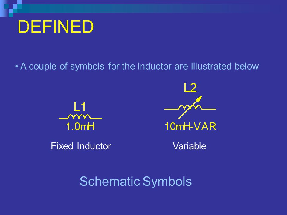 DEFINED Schematic Symbols