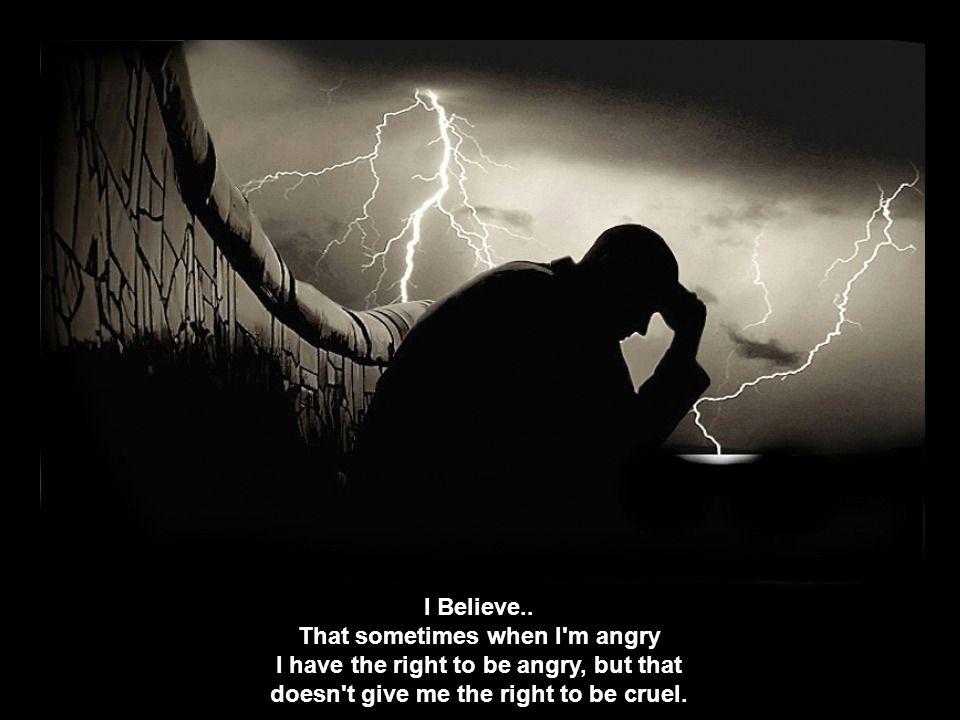 I Believe..