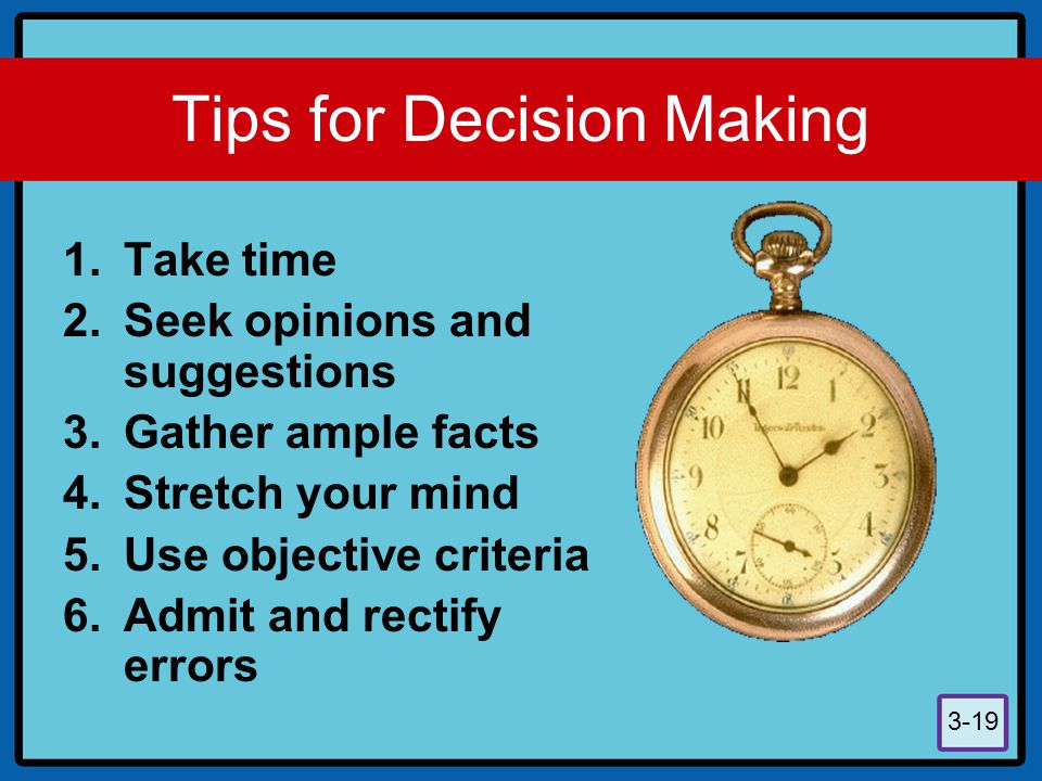 Tips for Decision Making