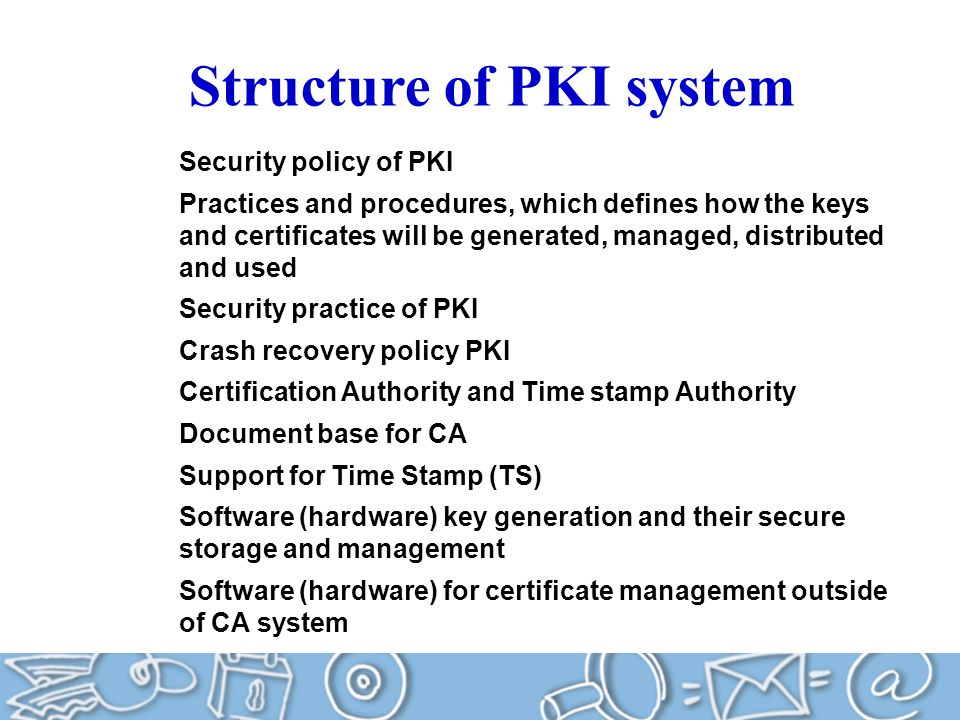 Structure of PKI system