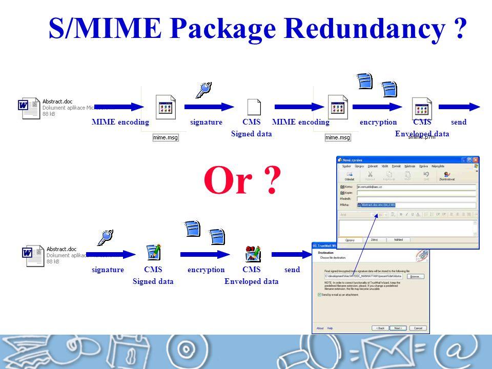 S/MIME Package Redundancy