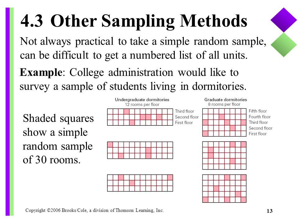 4.3 Other Sampling Methods