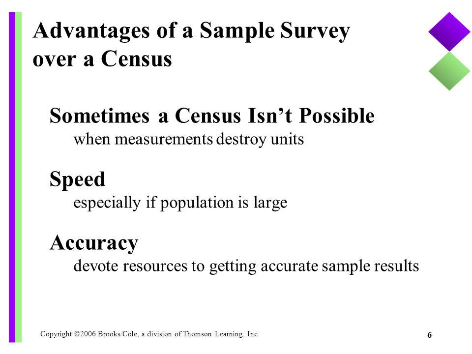 Advantages of a Sample Survey over a Census