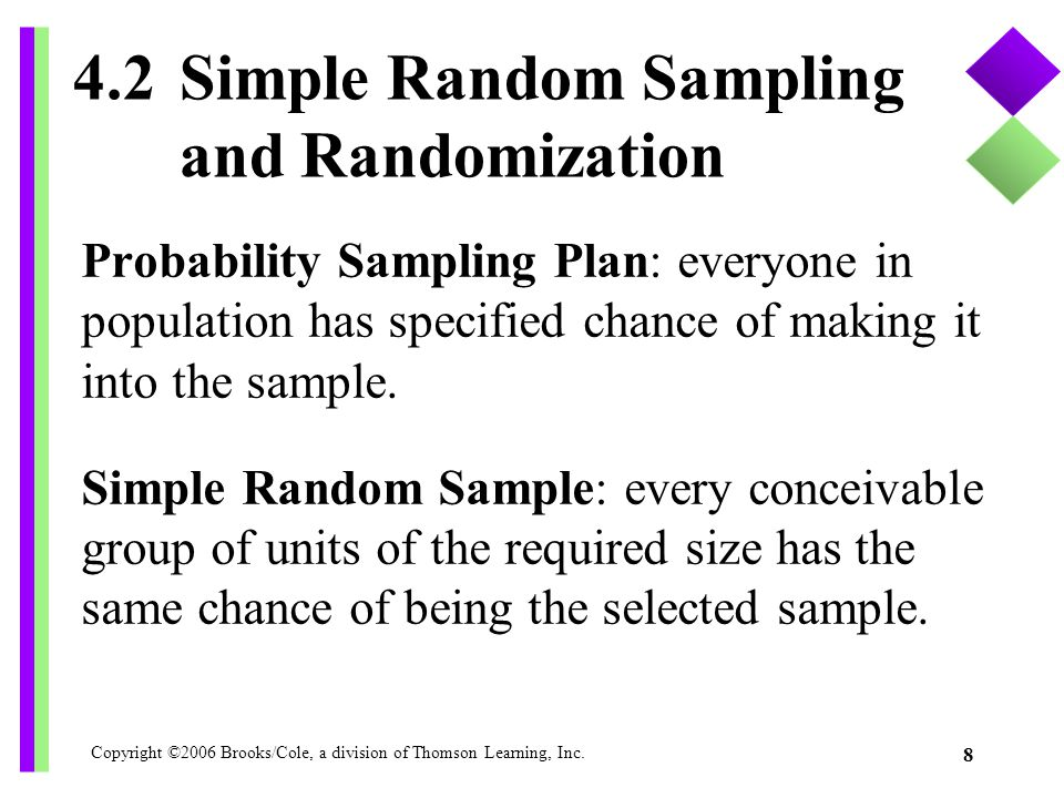 4.2 Simple Random Sampling and Randomization
