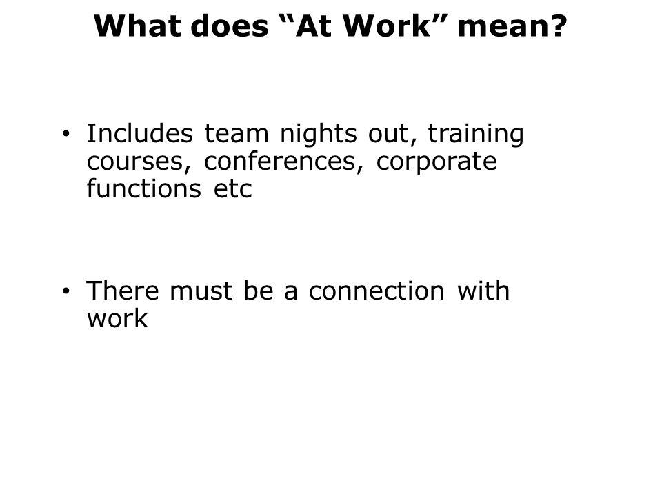 What does At Work mean
