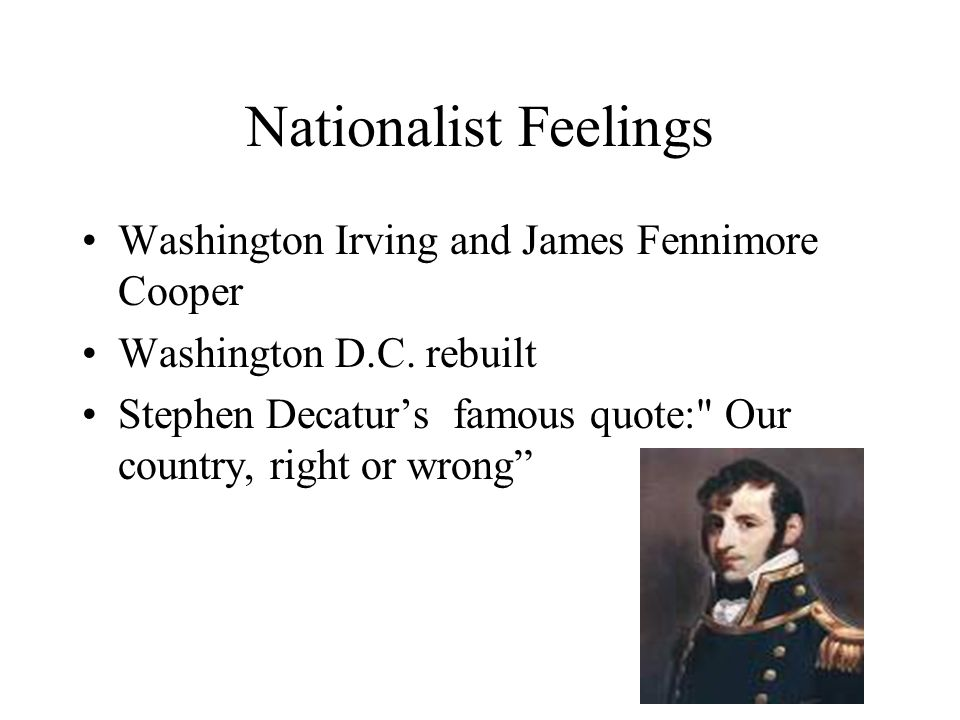 Nationalist Feelings Washington Irving and James Fennimore Cooper