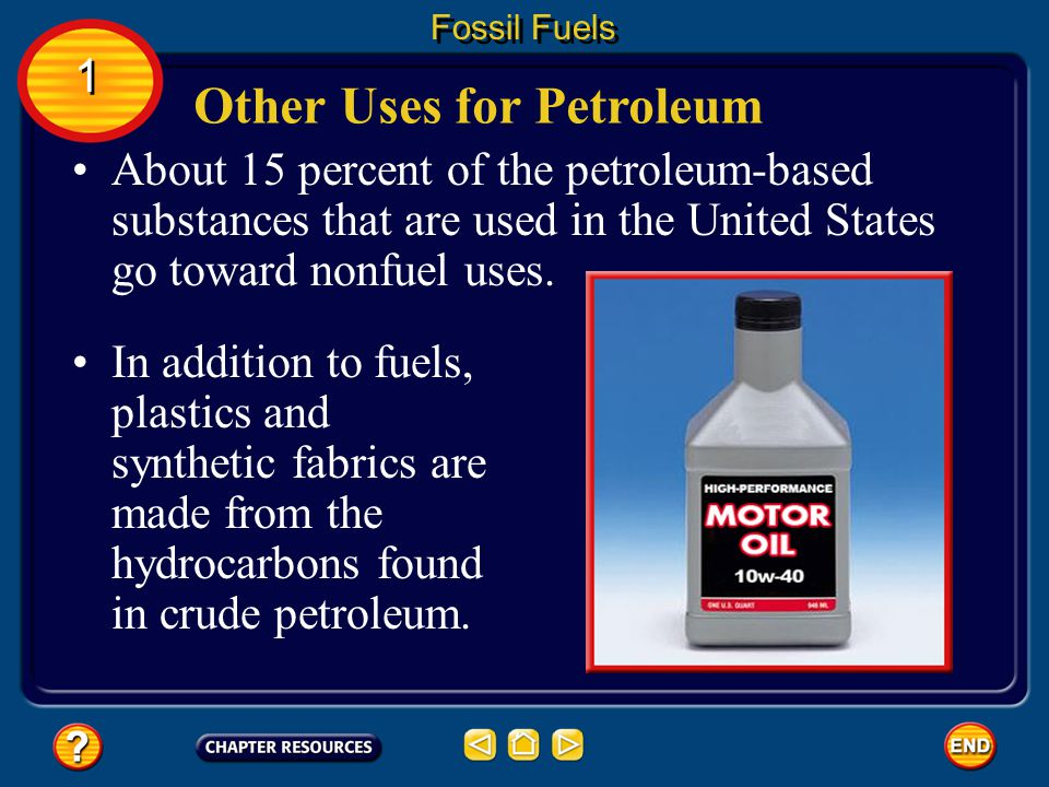 Other Uses for Petroleum