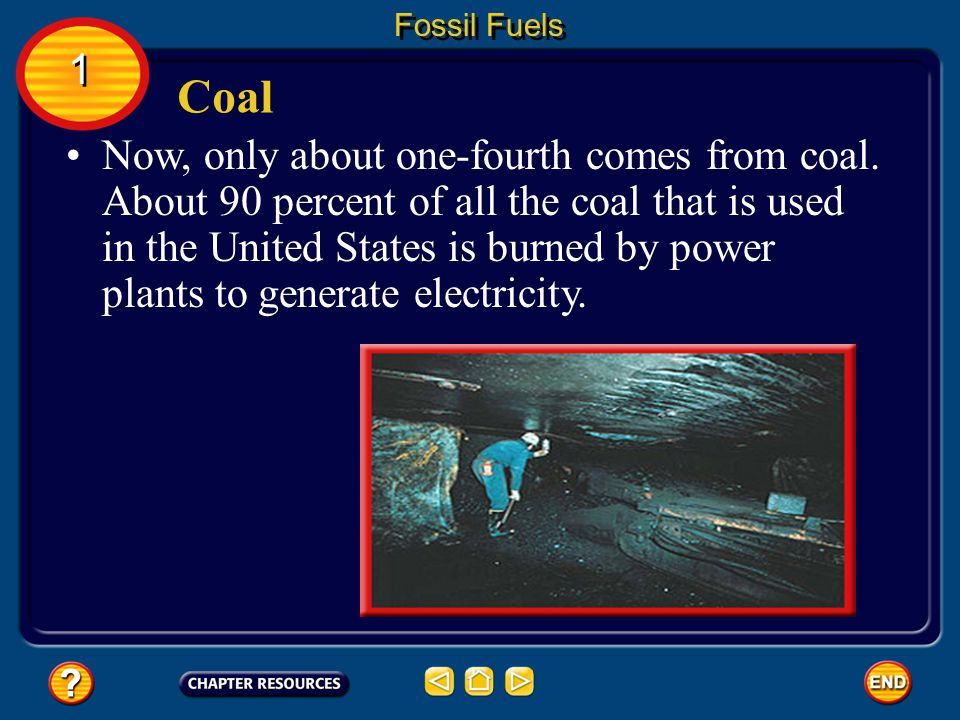 Fossil Fuels 1. Coal.