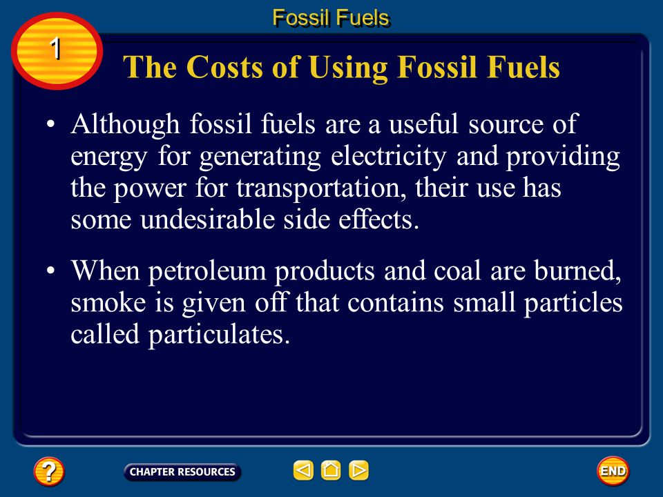 The Costs of Using Fossil Fuels