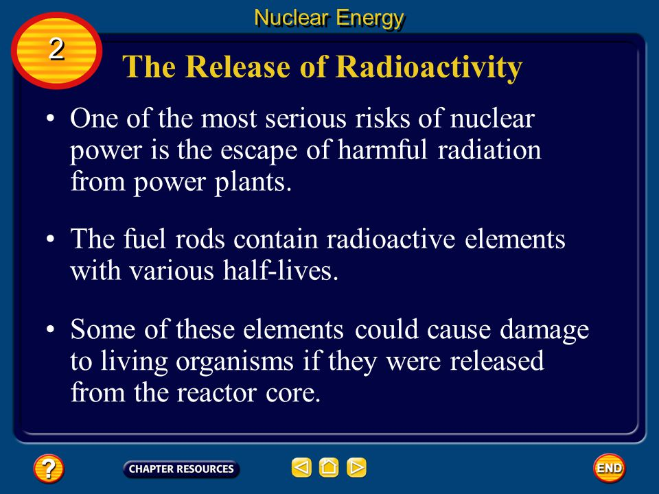 The Release of Radioactivity