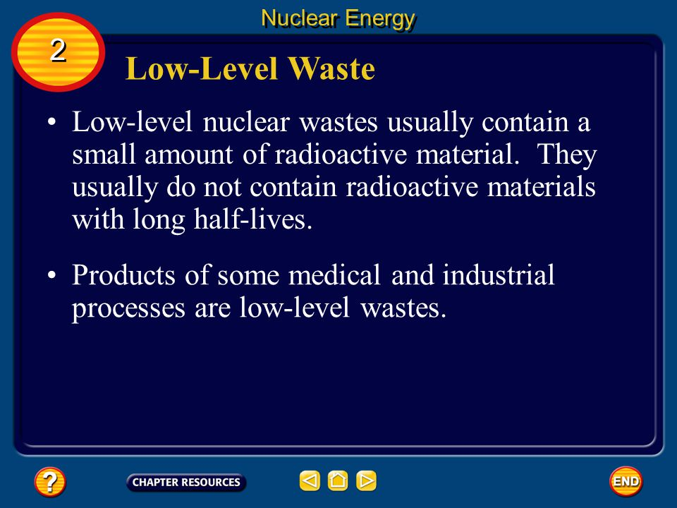 Nuclear Energy 2. Low-Level Waste.