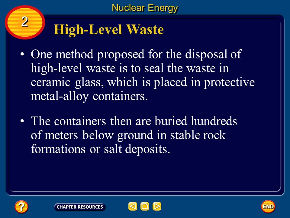 Nuclear Energy 2. High-Level Waste.