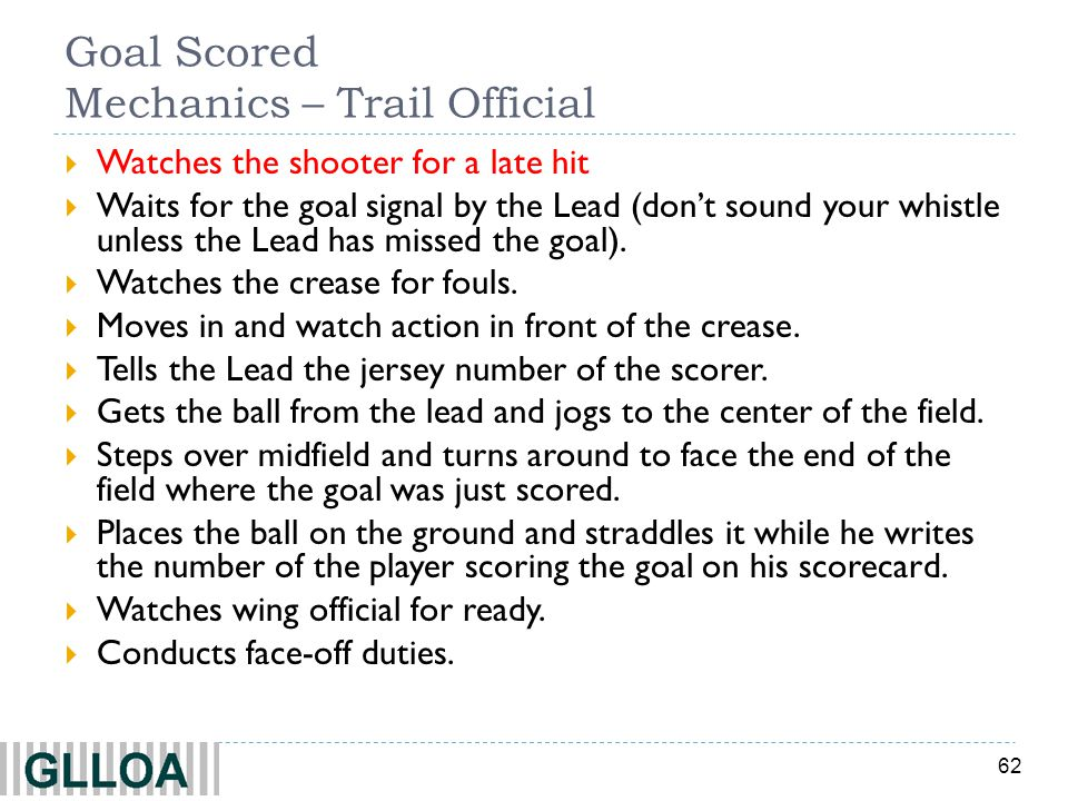 Goal Scored Mechanics – Trail Official