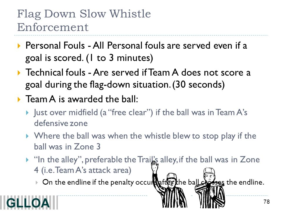 Flag Down Slow Whistle Enforcement
