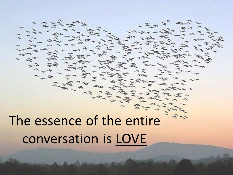 The essence of the entire conversation is LOVE
