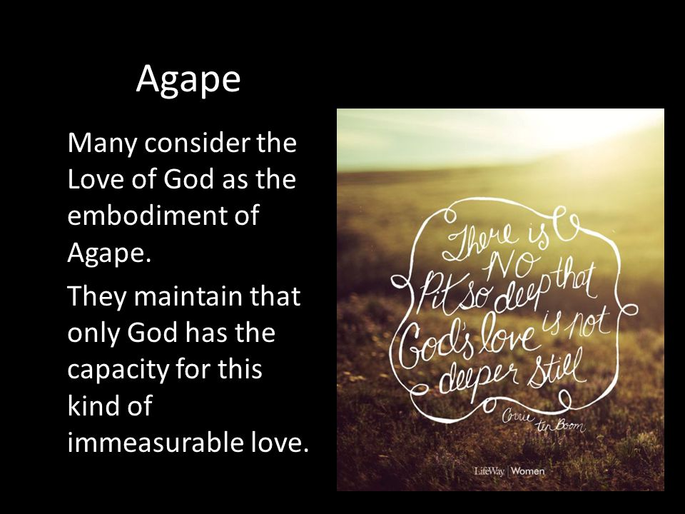 The Greatest Love of All - ppt video online download Gods Unconditional Love Agape